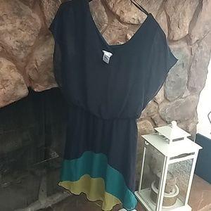 Sweet Storm blouse short dress navy